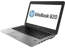 "Portátil HP 820 G1 8GB RAM 500 GB HDD 12.5"" GRADO A WIN10 INSTALADO"
