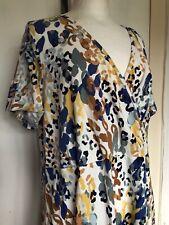 Brand New Dorothy Perkins Curve Size 26 Plus Size Leopard V Neck Wrap Tea Dress