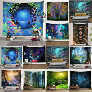 3D Printed Tapestry Wall Hanging Landscape Throw Bedspread Blanket Art Decor