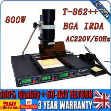 T862++ BGA IRDA Infrared Rework Station SMD SMT Welder Desodering Repair Machine
