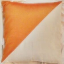 "Decorative Cushion Cover Pillow Case 22x22"" Orange Ivory Polyester Silk"