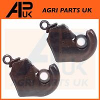 PAIR Category Cat 2 Tractor Lower Link Quick release Hitch ball Hook weld on end