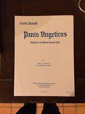 César Franck Panis Angelicus n°4 basse ou contralto et orgue partition Leduc