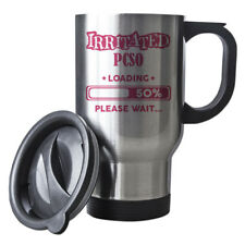 Pink Irritated Pcso Loading Funny Gift Idea Silver Travel Mug work 151