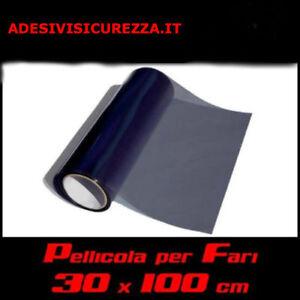 Pellicola oscurante fari 30x100cm fanali fumè SCURO nera auto moto light new!!!