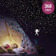 Wandkings fluoreszierende Leuchtaufkleber Feen Sterne und Punkte 368 Stück