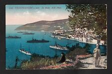 C1920s View of Warships in Villefranche-Sur-Mer Harbour/ Bay