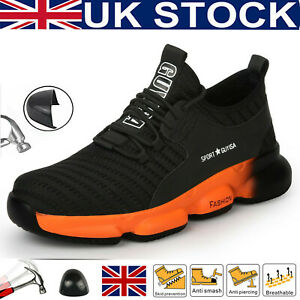 Safety Shoes Mens Steel Toe Cap Work Women Lightweight Fashion Trainers UK Stock