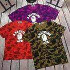 Men's Classic Camo Bape Monkey Icon Design Cotton A Bathing Ape T-Shirt 4Colors