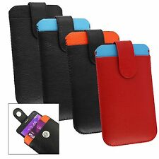 Genuine Calf Skin Leather Pouch Case Sleeve Fits Koobee Max5 Smartphone