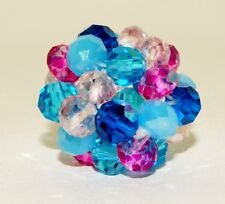Handwoven Bling Berry Bead - Blue Zircon Swarovski Crystal BY104