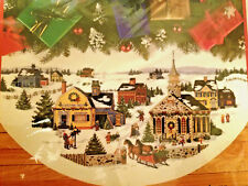 """Dimensions 8577 COUNTRY HOLIDAY TREE SKIRT Cross Stitch Kit ~ Sealed ~ 45"""""""