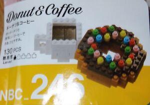 Donut & Coffee Nanoblock Micro Sized Building Block Construction Kawada NBC246