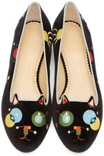 Charlotte olympia Abstract Kitty Flats Size 3