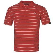 Camicie casual e maglie da uomo rossi a righe con colletto