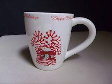 Creative Co-Op Christmas Mug Candy Canes Stripe Peppermint Stick Happy Holidays