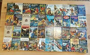 Set of Vintage Hardy Boys Books 40 Volumes With Original Dust Jackets 1927 -1961
