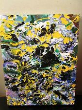 ABSTRACT CANVAS PAINTING BY MUSK YAI 8x10 ONE OF A KIND