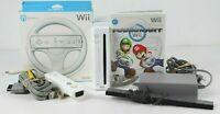 Nintendo Wii Console Mario Kart Controller Steering Wheel Hook Ups Mario Luigi