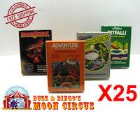25X  ATARI 2600 CIB GAME BOX -CLEAR PLASTIC PROTECTIVE BOX PROTECTOR SLEEVE CASE