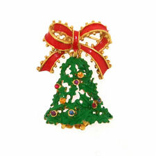 Christmas Brooch Butler & Wilson Bell with Bow Novelty Pin