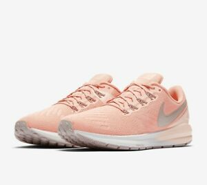Nike AIR ZOOM STRUCTURE 22 UK 4.5 EU 38 Women's Runnning Pink Coral AA1640 601