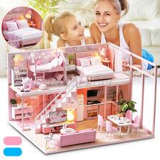 Weihnachten Miniatur Haus Puppenhaus Puppenstube LED  Puppenhaus DIY