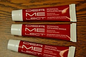3 DERMELECT Microfacial Exfoliating Masque 0.5 oz. Travel Size x 3 Sealed