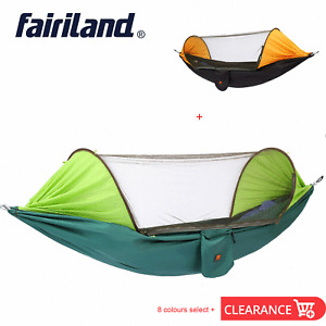 Portable Outdoor Mosquito Net Parachute Hammock Camping Hanging Bed Garden Swing