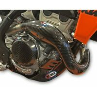 PRO CARBON RACING KTM SXF350 2019-2020 EXHAUST GUARD WITH CHAMBER