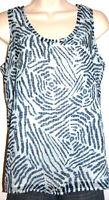 Ann Taylor Loft Petites Women's Blue Sleeveless Lined Print Top Size SP