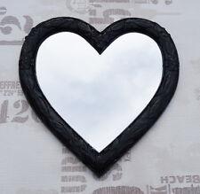 Wall Mirror Heart Mirror Heart Shape Baroque Black Love Gift New 88