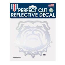 "GEORGIA BULLDOGS UGA LOGO CUT REFLECTIVE DECAL 6""X6"" SHEET"