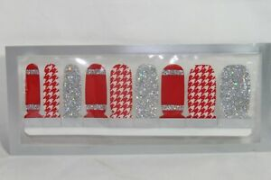 Nail Polish Strips (18 double ended) (new) SCHOOL OF ROCK - RED, WHITE & SILVER