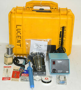 Weller WTCPT Soldering Station PU120T and TC201T Iron w/ Stand,Tips & Case