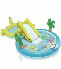 Intex Gator Play Center kiddie pool with Water Slide, sprayer & Ring Toss Game