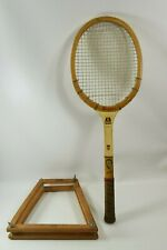 Vtg Regent Top Star Don Budge Wood Tennis Racquet w/Regent Don Budge Press