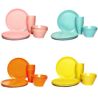 Eco-Friendly/Recycled Bamboo Family Dining/Camping/Picnic Set - Cup/Bowl/Plate