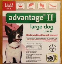 K9 K-9 Advantage II Dogs 4 Pack Flea Lice Medicine 21-55 Pounds US EPA Approved