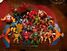 Vintage He-Man Action Figures Lot Of 21 Masters Of The Universe 80's Battle Cat