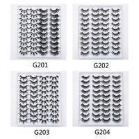 20 Pairs 3D Natural False Eyelashes Long Thick Mixed Fake Eye Lashes Makeup Mink