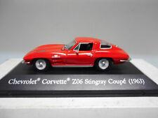 CHEVROLET CORVETTE Z06 STINGRAY COUPE 1963 TEST AMERICAN CARS ALTAYA 1:43