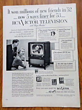 1953 RCA Victor TV Television Ad 5 Ways Finer for '53