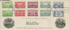 1937 FDC, ARMY NAVY, COMBO COLLECTION