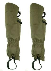 Extra Long Heavy Duty Waterproof Lined Hunting High Leg Boot Gaiters Gaitors