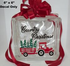 Country Christmas tractor Decal Sticker for DIY 8