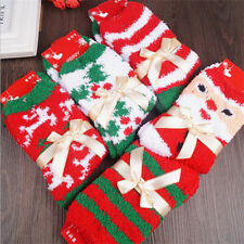 4 Pairs Women Girls Soft Fluffy Christmas Socks Warm Winter Cosy Lounge Bed Sock