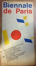 PIERRE FAUCHEUX BIENNALE DE PARIS 1965  AFFICHE LITHOGRAPHIEE ORIGINALE