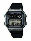 Casio Mens Quartz Countdown Timer Black Resin 45mm Watch AE1300WH-8AV