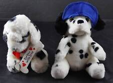 Vintage Lot Of 2 Dalmatian Puppy Dog White Black Spots Plush AGC & Steven Smith
